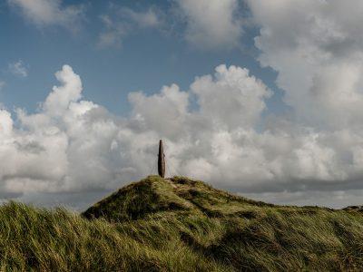A view of 'Cigar Hill' in the dunes near Vorupør in Cold Hawaii, Jutland, Denmark. 'Cigarbakken' nær ved Vorupør i Cold Hawaii, Jylland.